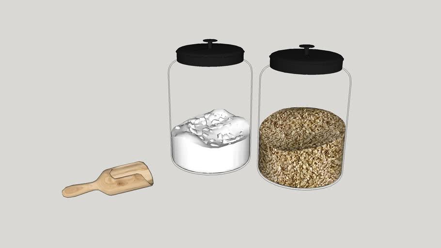 Utensílios de cozinha - Potes de vidro
