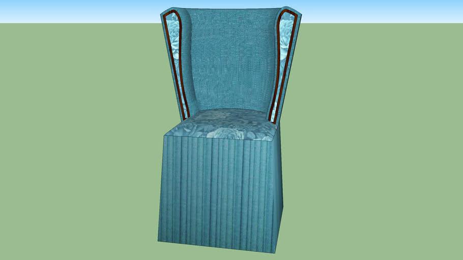 blue dressing chair