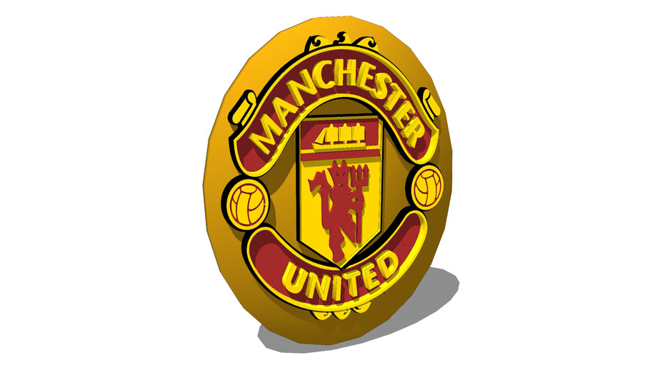 Manchester United Football Crest 3d Warehouse