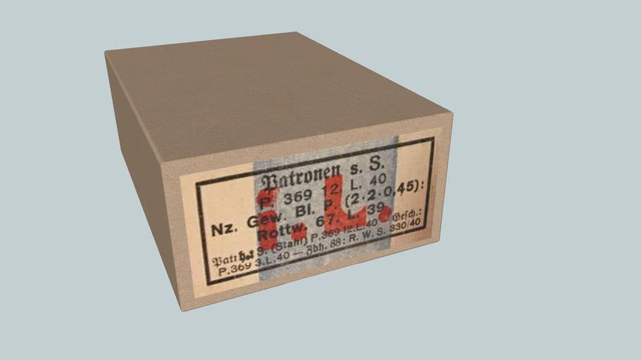 German WWII 7,92x57 ammo box,S.S. bullet,1940