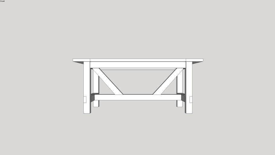 Farmhouse Table with 4x4 Base