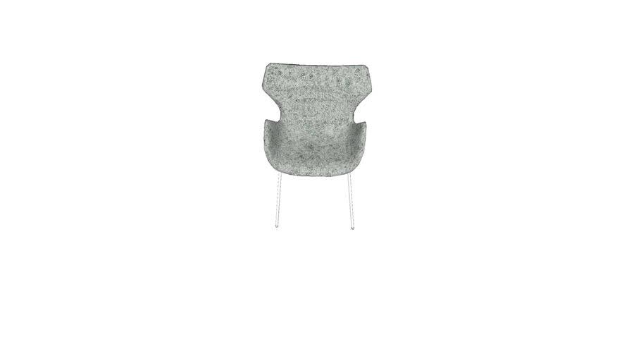 Wings chair with steel tube base 天鹅椅钢管款