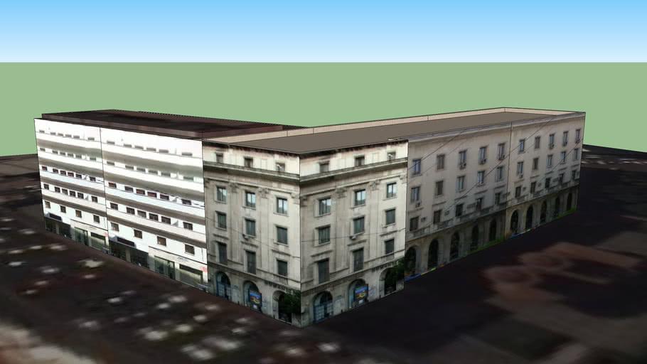 Building on Victoriei street, Bucharest