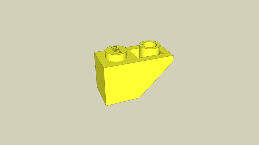 Lego Roof Tile 1x2 45° Yellow