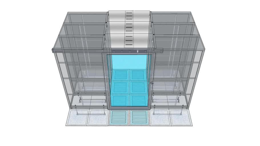 Data Center Hot/Cold isolation setup
