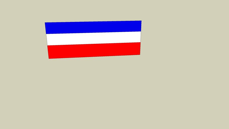 bandeira da Sérvia e Montenegro