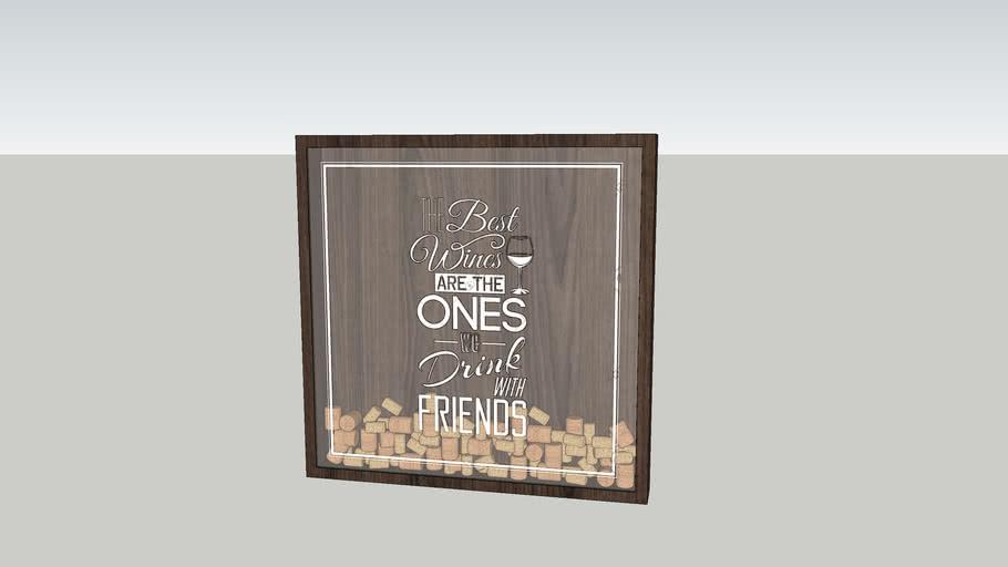 Wine box art frames