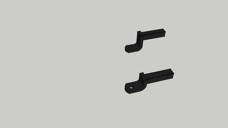 two inch hitch drawbars