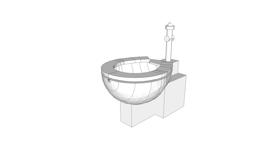 P9401 - Toilet, Floor-mounted, Psychiatric