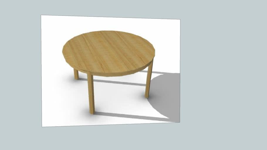 Ikea Bjursta Dining Table Birch 3d, Ikea Round Table