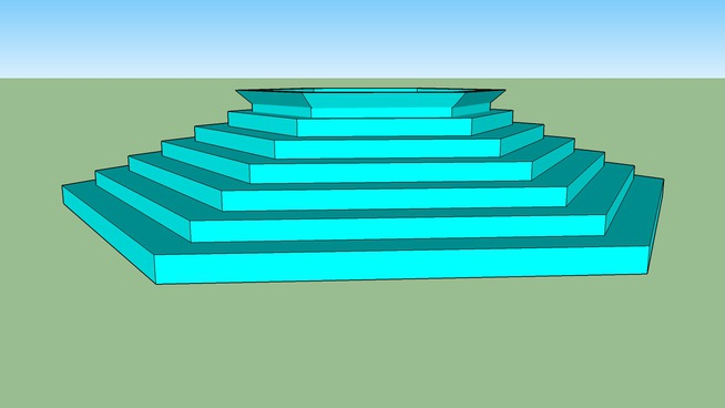 polygon spa pool with steps
