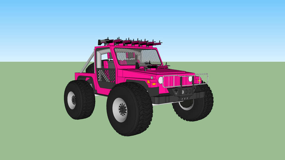 pink m60 jeep