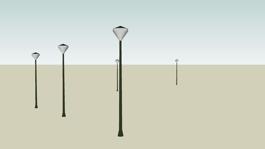 Imielin, lampy obok UM