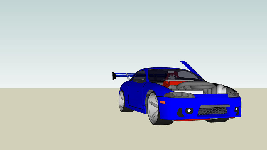 Drag racer Mitsubichi eclipse
