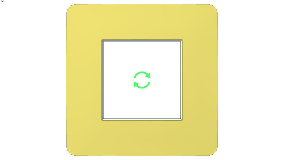 Unica Studio Color Frame 1 gang, light green