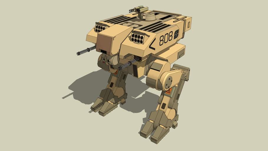 The L-5 Riesig Battle Walker from team EU, from the game : Battlefield 2142