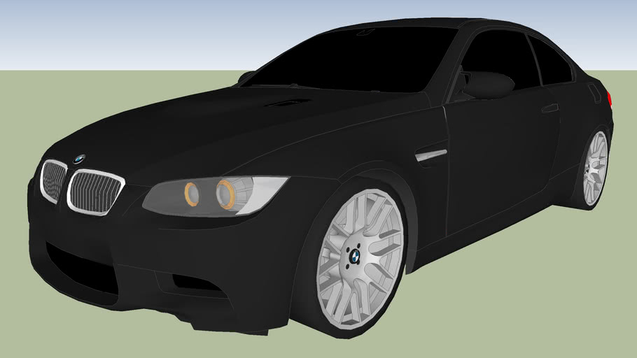 BMW E92 M3 Black With Competition Pack