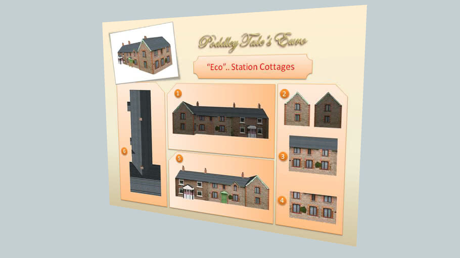 """Eco Station Cottages Kit""... ""Template"".. ""Make it Youself!""..."