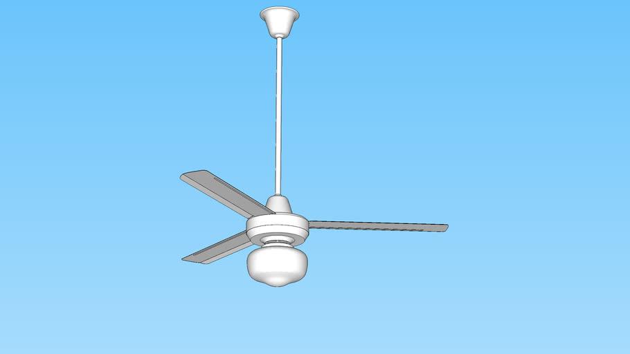Ceiling Fan KDK with lamp - Abanico de techo con lámpara