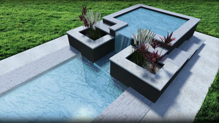 Modern Pool Jacuzzi 3d Warehouse