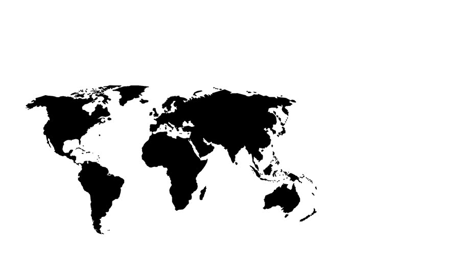 World Map Black White 3d Warehouse
