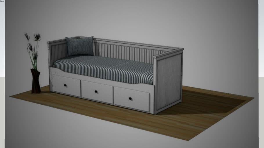 Ikea Hemnes Bedbank.Ikea Hemnes Bed Coach 3d Warehouse