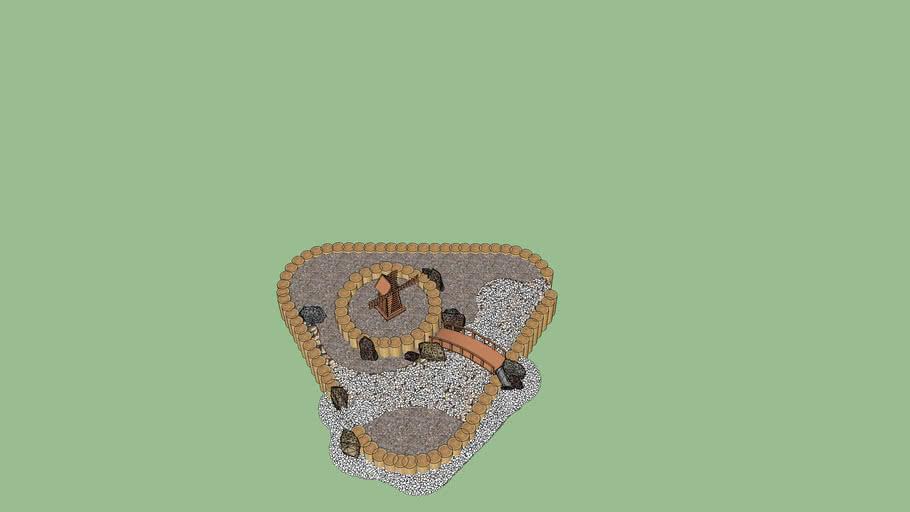 Альпийская горка (основа без растений)