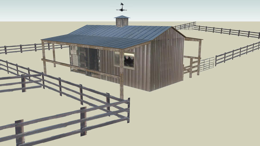 Corral Shed at the Bar W