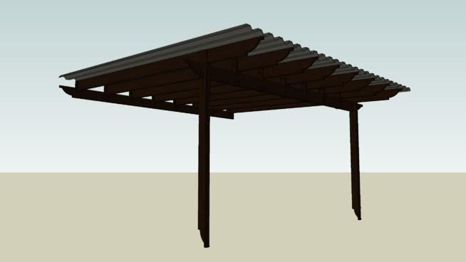 Kanopi Kayu Roofgarden