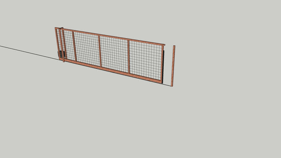 Rolling Gate with Metal Mesh Panel