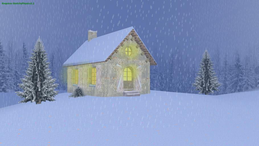 snowy scene(sketchyphysics 3.2)