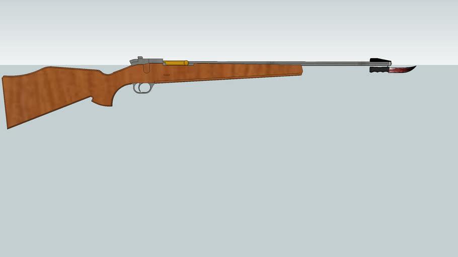 rifle with bayonet