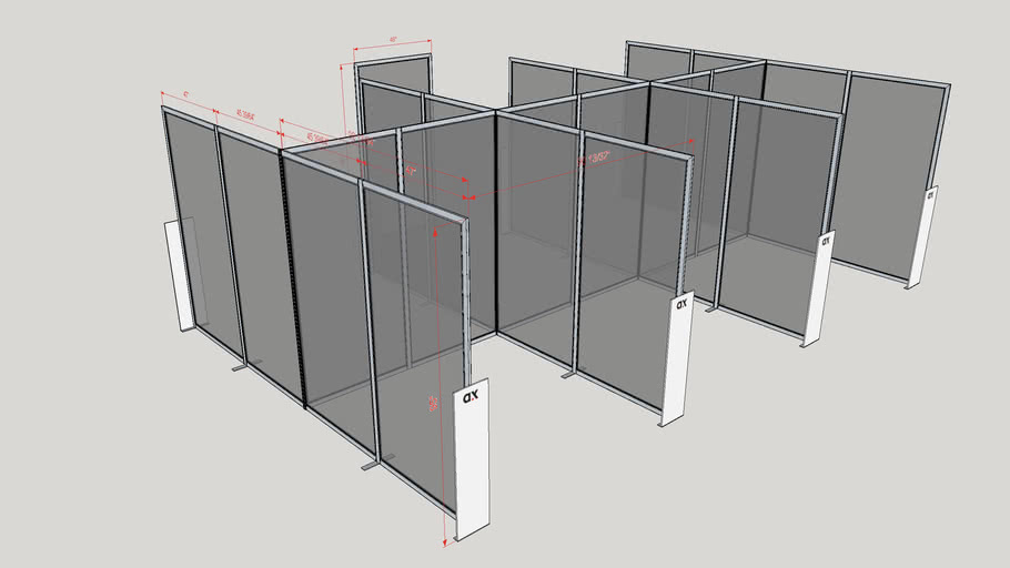 COVID-19 Public Space Dividers AX06