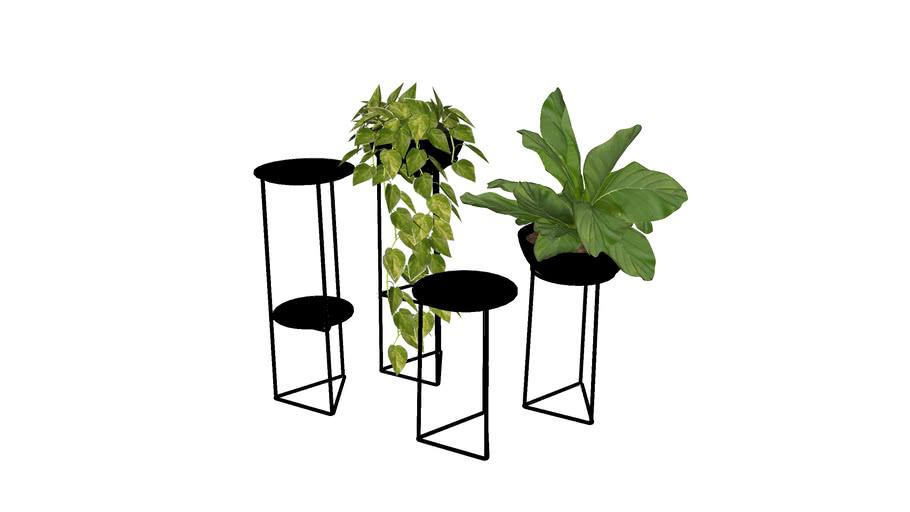 suporte de piso para vasos de plantas