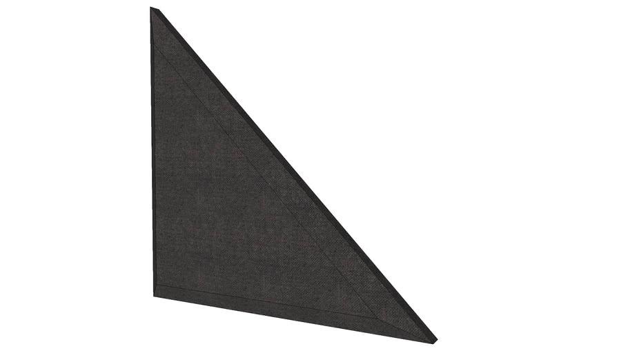 "24""x24"" Apex Triangle Acoustic Panel, Beveled Edge, Black"