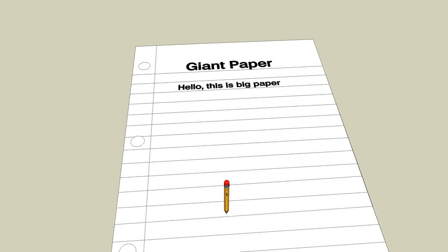 Giant paper