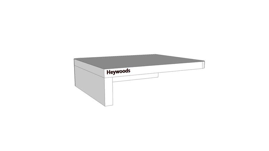 Mondeo Bathroom Shelf_White