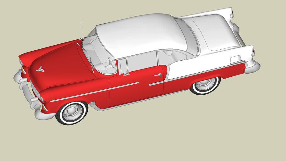 Red & White 1955 Chevrolet Belair