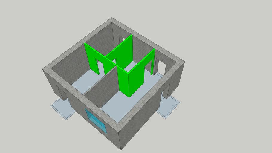 3D Модель - 34,3м2