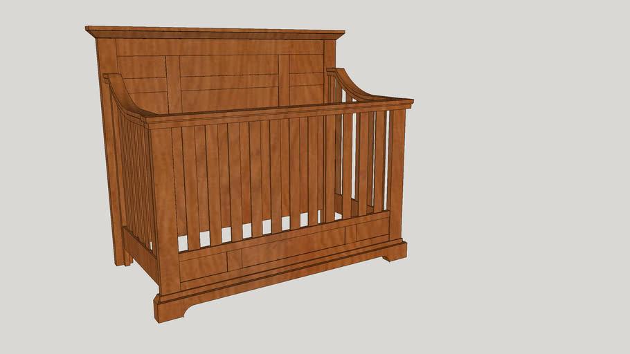 Oxford Baby 4-1 Convertable Crib - Slate Crib