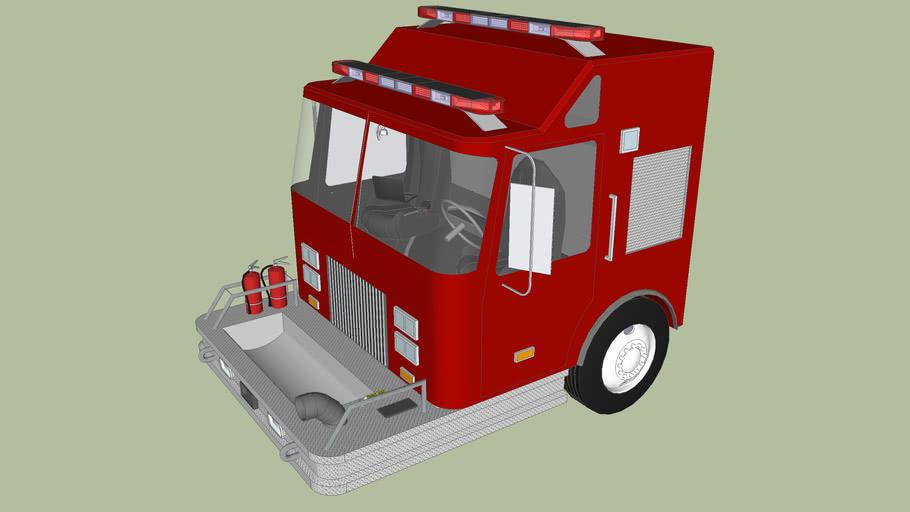 Pierce Fire Truck Cab