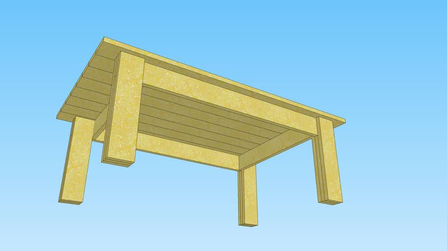 Mesa de centro (de café) hecha con madera de palet.