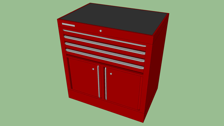 BF-094 - Tool Storage Cabinet w/ 4 Drawers and 2 Doors