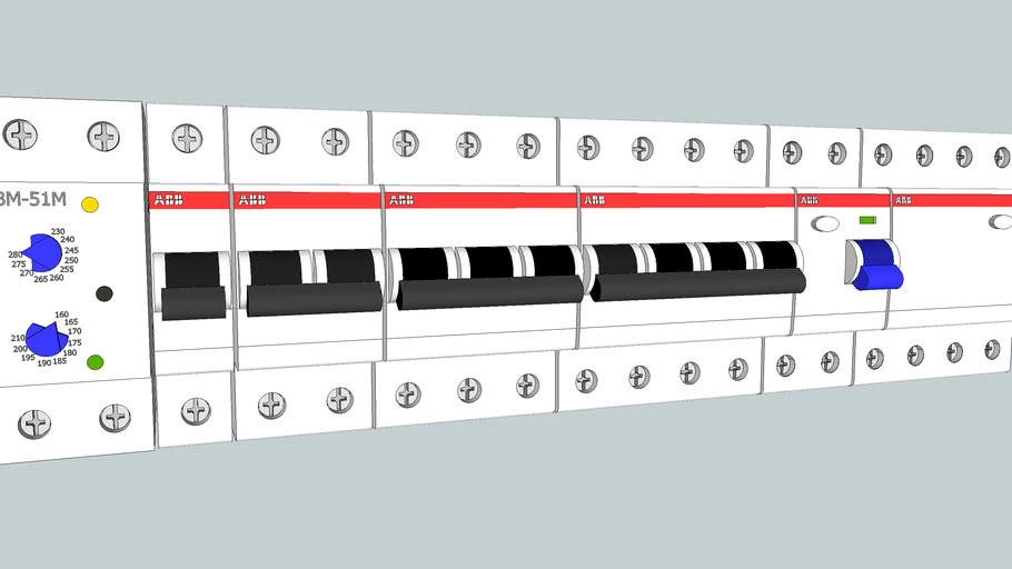 Автоматические выключатели, УЗО ABB+УЗМ-51м