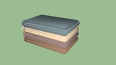almofadas e tecidos