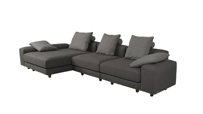sofa cinza retratil