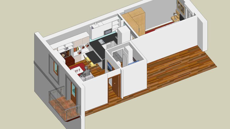 Apartamento en 35 m2