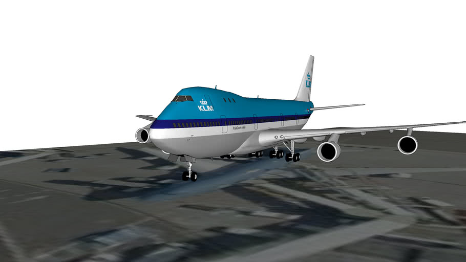 Boeing 747 Schiphol Airport