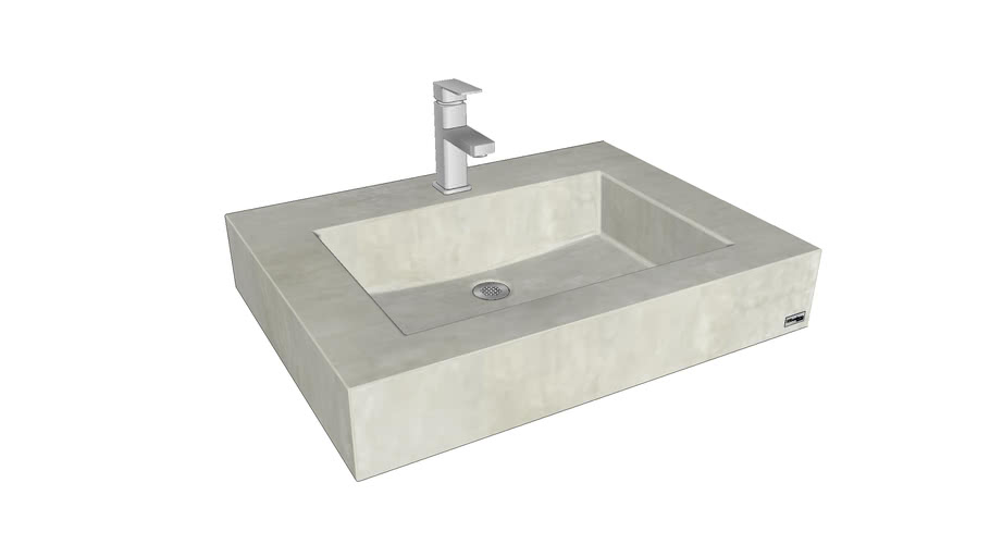 """30"""" ADA Floating Concrete Rectangle Sink"""