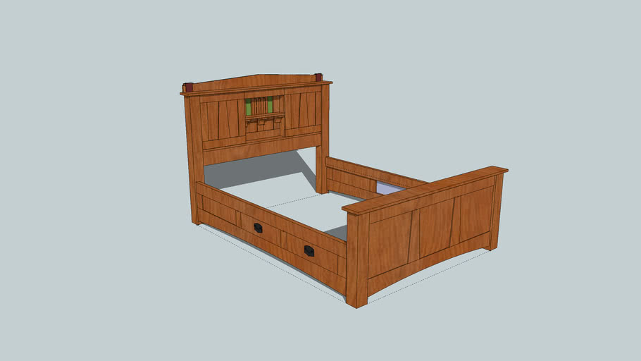 A and C Bed 47.75 Legs Rodel Center Willie Sandry Designs